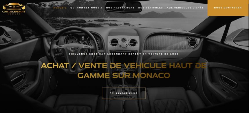 Carlegendary Monaco Courtier en voiture de luxe