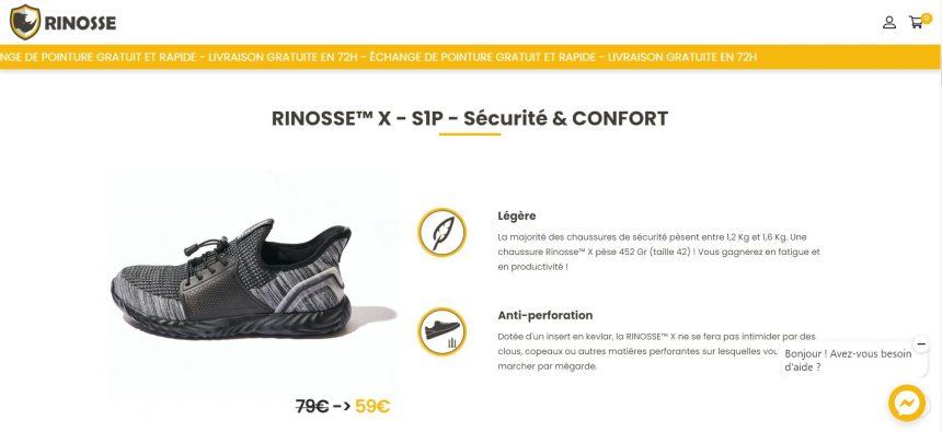 rinosse chaussure de sécurité